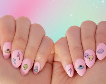 Nail Tattoos / Nail Decals / Nail Stickers - The Rosewell Collection