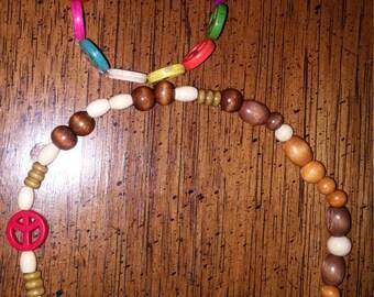 Peace Sign Necklace & Bracelet