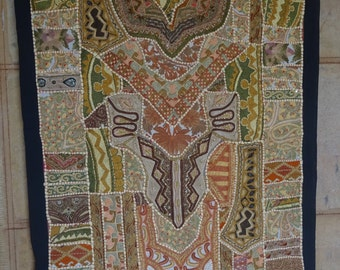 VINTAGE Cotton Patchwork indian Table Cloth Tapestry Home Decor 09