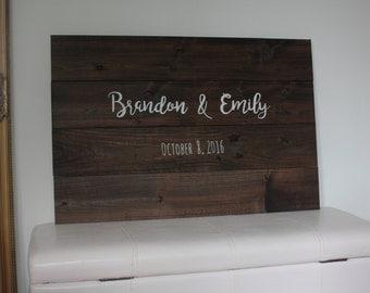 Wedding guest book / wooden sign guest book