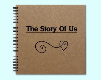 The Story of Us - Hardcover Book, Hardcover Journal, Square Journal, Unique Journal, Personalized Notebook, Writing Journal