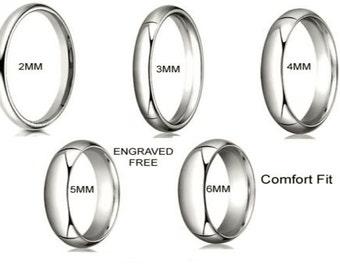6MM Solid 10K White 100% Gold 6mm  Comfort Men Women Wedding Band Ring