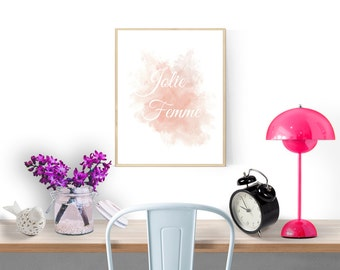 French art print, Instant download printable art, Nursery decor wall art