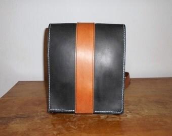 Leather bag for man, male bag, black bag, leather purse, shoulder bag, handmade bag