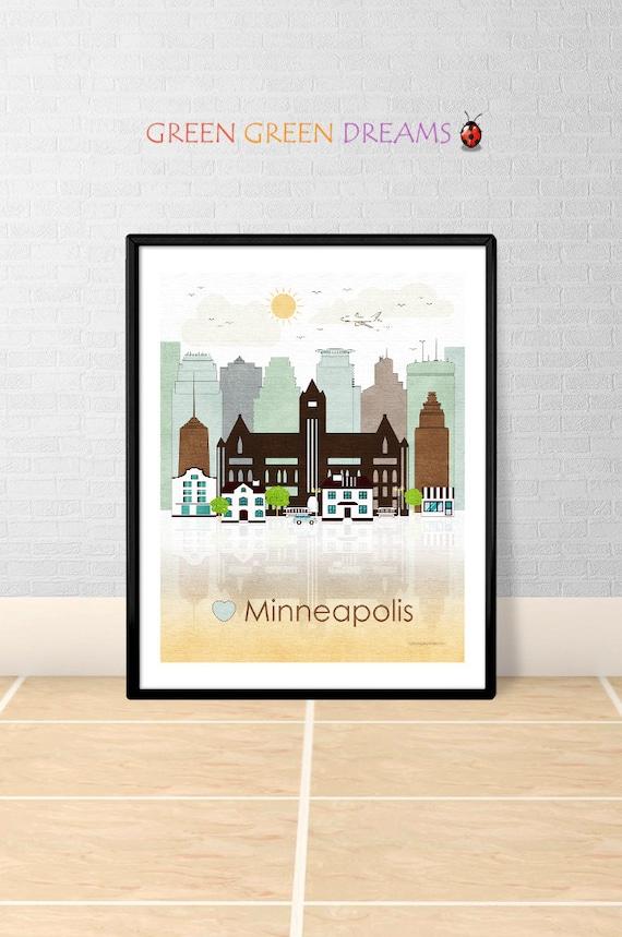 Minneapolis Print Poster Wall Art Minnesota By Home Decorators Catalog Best Ideas of Home Decor and Design [homedecoratorscatalog.us]
