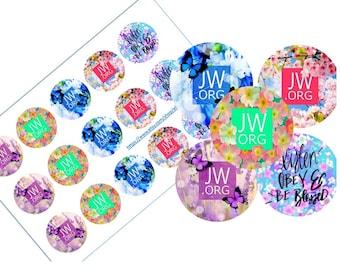JW.org Bottle cap images 1 inch circles 4x6 sheet