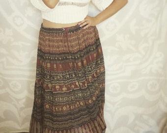 Vintage Gypsy Maxi Skirt