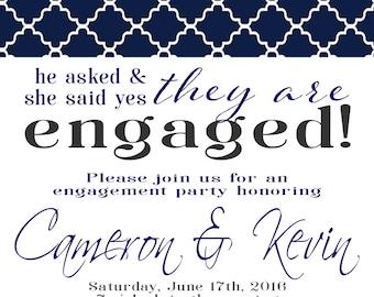 Engagement Party Invitation PRINTABLE DIY