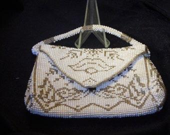 Czech Art Deco Glass Bead Clutch Bag