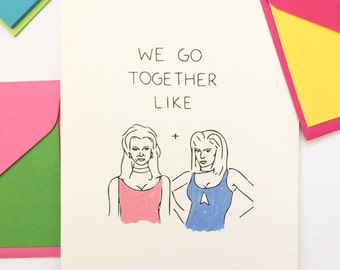 Funny Friendship Card, Best Friend Birthday Card, Funny Love Card, ROMY AND MICHELLE, Bridesmaid Card, Birthday Card Gay Card, Sister Card