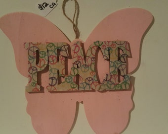 Peace Butterfly Hanging
