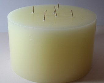 Candles, multi Wick candle, Multiwick candle, cream pillar candles, round, large, diameter 19 cm, height 12 cm