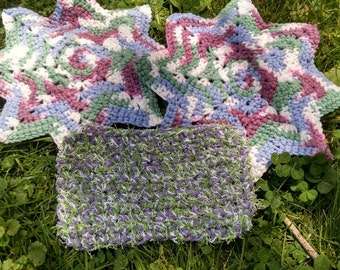 Star Dishcloths and Scrubber