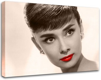 Modern painting Audrey Hepburn, abstract art , canvas print