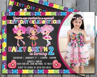 Lalaloopsy Invitation, Lalaloopsy Birthday Invitation, Lalaloopsy Invite, Lalaloopsy Party Invitation, Lalaloopsy Birthday Party, Doll, #197