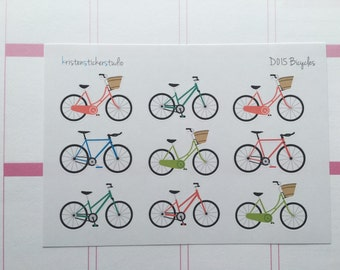 FINAL SALE 25% OFF // D015 // Bicycle Planner Stickers