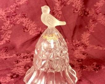Crystal bird bell