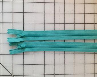 Tahiti Blue 14in YKK Zipper - 2 pk