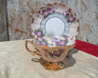 Tea  Cup and Saucer,  Lefton China, Collectible Tea Cup and Saucer