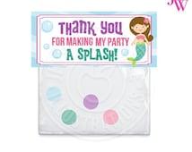 SALE Mystical Mermaid Printable Bag Toppers, Mermaid Thank You Bag Labels, Printable Mermaid Labels, Mermaid Party Treat Bag Topper