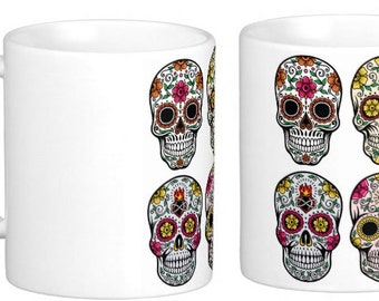 Dayof the Dead of Sugar Skull Mug (Group of 4)