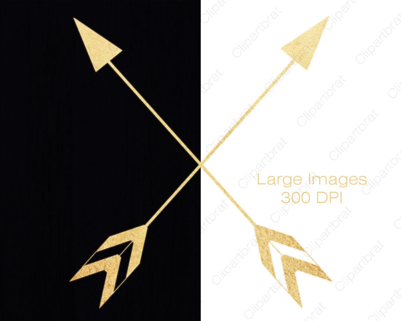 GOLD FOIL ARROW Clipart for Commercial Use Clip Art ...