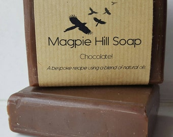 Chocolate Soap, Cocoa, Handmade Soap, Coloured with Cocoa, Brown, Fair Trade cocoa, Chocolate Lover, Cold Process, Chocolate