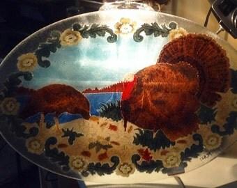 Peggy Karr Handmade Oval Turkey Platter