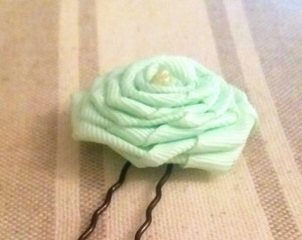 Hair flower hair rose for girl flower, bride and bridesmaids tiffany