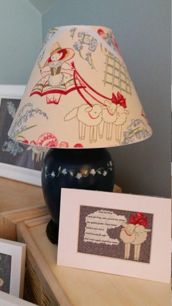 nursery accent lamp little bo peep accent lamp nursery decor. Black Bedroom Furniture Sets. Home Design Ideas