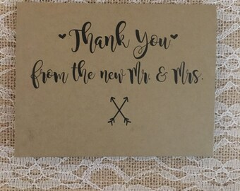 Wedding Thank you cards - Romantic