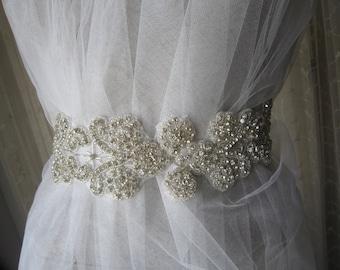 Rhinestones wedding dress belt sash, bridal belet sash, accessories