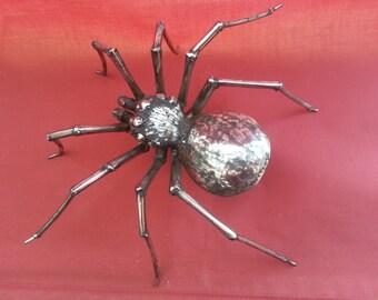 stainless steel spider sculpture