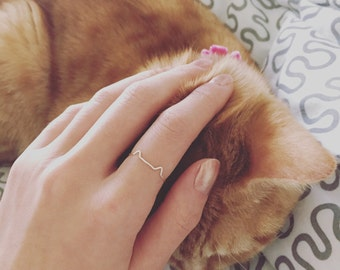 Cat Silver Ring. Gift for Cat Lovers. (Cat not included)