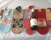 Four Reusable Wine Bags, ...