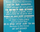 In This House we do Disney, we do happily ever after 16x20, castle, Disney sign, disney art