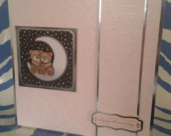 Anniversary Card, Wedding Anniversary, Handmade, Greeting Card, Couples Card