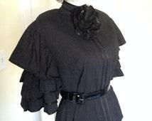 Vintage Steampunk Costume, Vintage Cotton Full Skirt, Blouse - Fabulous!