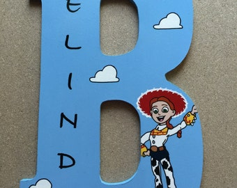 10.5in handpainted toy story themed letters