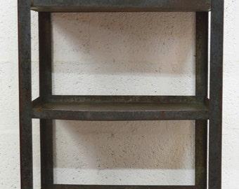 Mid-Century Retro Industrial Blue/Green Tall Metal Cabinet