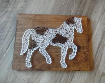Horse String Art, Animal String Art, Horse Art, String Horse Art, Horse String Design, Animal String Design, Horse Decor, Decor Horse, Horse