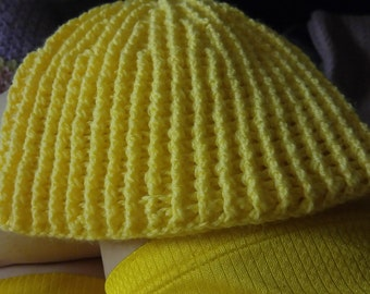 The Yellow Ribbed Hat