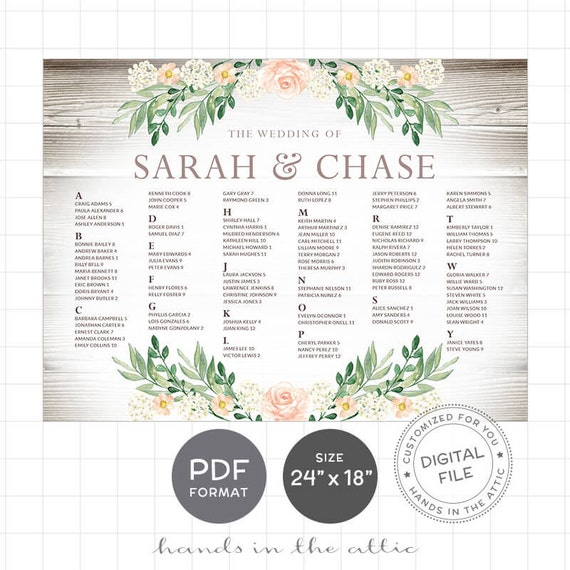 Rustic Wedding Seating Chart Ideas: Rustic Seating Charts For Weddings Chart Ideas Poster