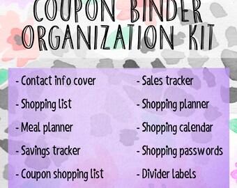 Coupon Binder Organization Kit - Floral Cheetah