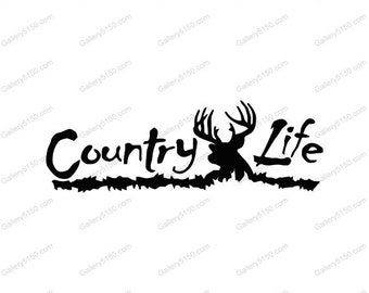 Country Life Decal, Sticker, redneck life, redneck decals, redneck stickers, gifts for guys, gifts for girls, gifts for him, redneck gifts