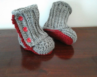 Boot to crochet for Baby Baby booties (on order)