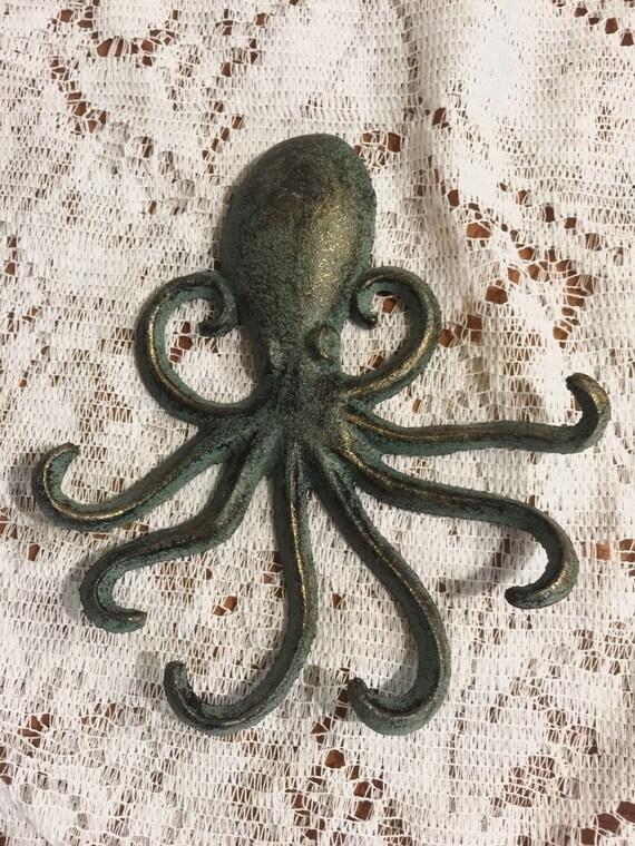 Octopus wall hook galvanized metal jewelry holder coat - Coat hook octopus ...
