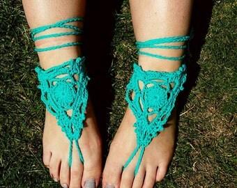 Barefoot sandals. Crochet sandals. Crochet barefoot sandals. Foot jewellery. Boho sandals. Hippy sandals. Boho. Hippy. Toe thong. Beachwear.