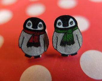Cosy Winter Penguin Earrings