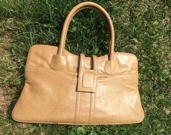 Genuine leather handbag vintage 70